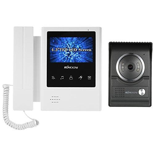 KKmoon Videocitofono Cablata Video Citofoni 4,3 Pollici LCD Monitor Supporto Visione Notturna Audio...