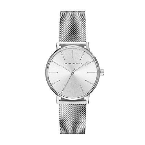 Armani Exchange Damen Analog Quarz Uhr mit Edelstahl Armband AX5535