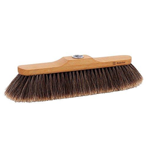 Redecker 120330 Cepillo para escoba de madera de haya aceitado | cedras de crin especialmente suaves | Hecha de materiales naturales | Tamaño 30 cm.