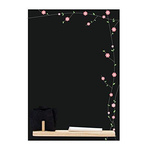 Chalkboards UK Motivo Floreale 'Small memo Lavagna/Lavagna/Cucina, con Vassoio, Set di gessetti e...