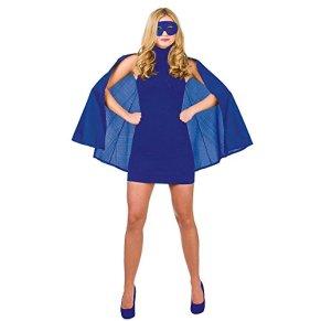 Detalles sobre la capa de superhéroe, disfraz de heroína de super mujer + máscara.