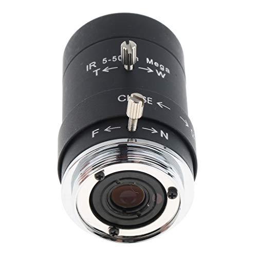 Baoblaze Obiettivo Iris Manuale CS Varifocale 5-50mm F1,6 1/3' per Telecamera di Sicurezza CCTV