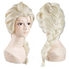 Elink Earth™ Anime Cosplay Costume Wig for Disney Movies Frozen Snow Queen Elsa (Light Blonde) by Elink Earth