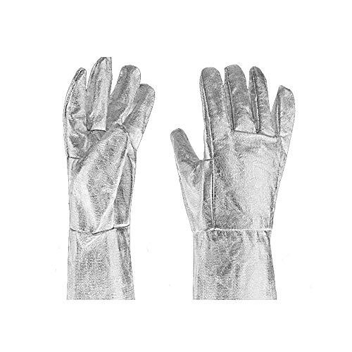 MOGOI guanti resistenti al calore, 500gradi di alluminio fibra guanti con dita in acciaio per...