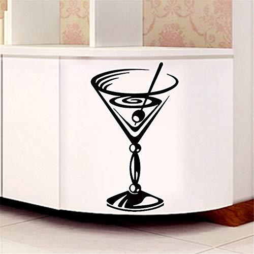 yiyiyaya Nuovo Design Cocktail Glass Wall Sticker Cucina Home Decor Soggiorno Camera da Letto Wall...