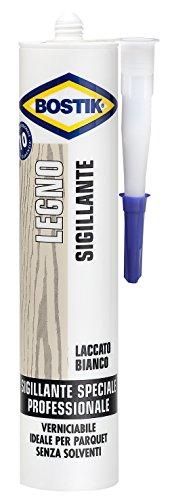 BOSTIK silicone sigillante legno 300ml parquet mobili professionale bricolage (Laccato bianco)