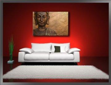 80 x 60 cm cuadro en lienzo buda 4041-VKF -Cuadro impresión, Cuadro decoración 4