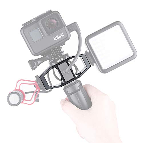GP-1 GoPro Vlogging per Gopro Vlog Stand Fotocamera treppiede Adattatore Fotocamera Stand Action Camera Light Shooting Staffa con 1/4'Vite Cold Shoe Mount per Light Stand Mic per GoPro Hero 7 6 5