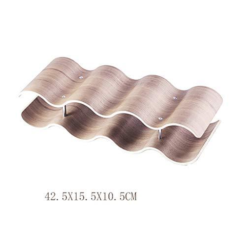 Portabottiglie da appoggio Home Wave, in legno, elegante e moderno, portabottiglie da tavola (Color...