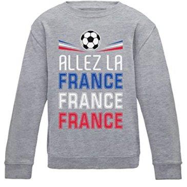 Green Turtle T-Shirts Allez Les Bleus ! Allez la France ! Coupe du Monde Football Sweatshirt Enfant