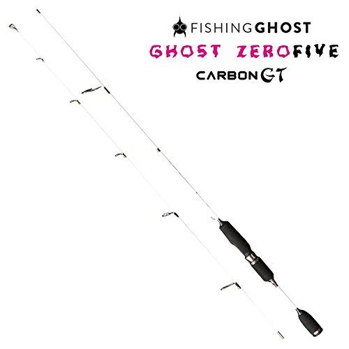 FISHINGGHOST Zero Five Carbon Cucchiaio UltraLight Trota, Pesce persico e Char Canna da pesca - Spinning Rod - Asta di sostegno, Lunghezza 180 cm, Ultralight, Punta solida, Completamente parabolica