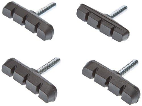 XLC Unisex– Erwachsene Bremsschuhe Cantilever BS-C02 4er Set 55 mm Schwarz, One Size