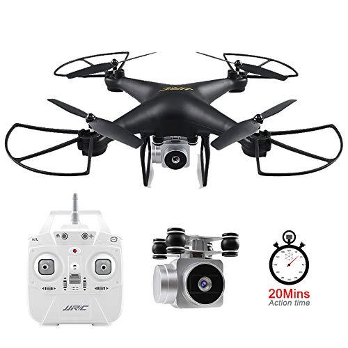 ZMH Lunghi periodi di Volo Drone, JJRC H68 Professional Drone RC con Fotocamera 720P HD Live Video FPV Quadcopter con la modalità Senza Testa, altitudine Hold Elicottero,Black