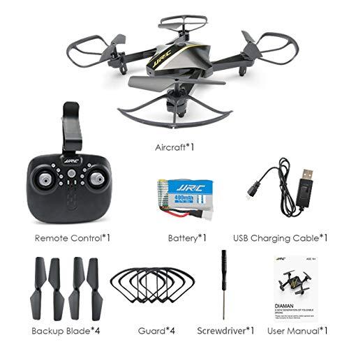 Jasnyfall H44WH Elegante Forma di Diamante Pieghevole Drone 720 P WiFi Quadcopter Selfie Drone...