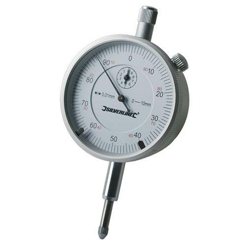 Silverline 196521 Präzisions-Messuhr, metrisch 0–10 mm