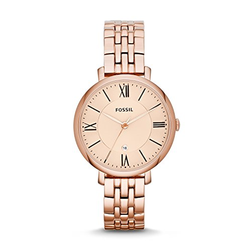 Fossil Analog Rose Gold Dial Women's Watch-ES3435