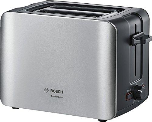 Bosch TAT6A913 Tostafette Inox, 1090 W, Acciaio Inossidabile, Argento/Nero