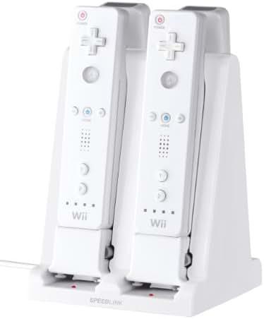 Speedlink Quad Ladestation für Nintendo Wii/WiiU (für bis zu vier WiiMotes, Akkus beiliegend)