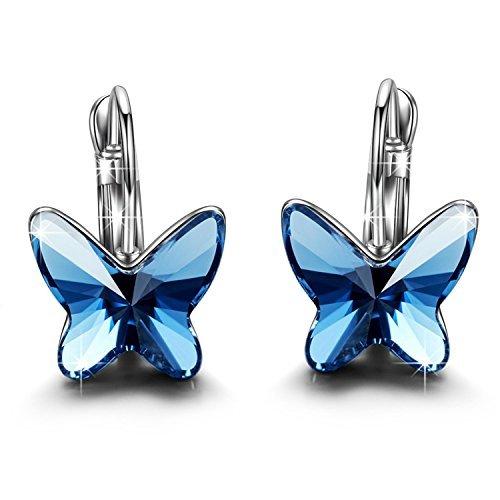 """Brilla Regalos para las mujeres pendientes de aro Fashion Jewelry Set """"mariposa Dream"""" Swarovski elementos cristal"""