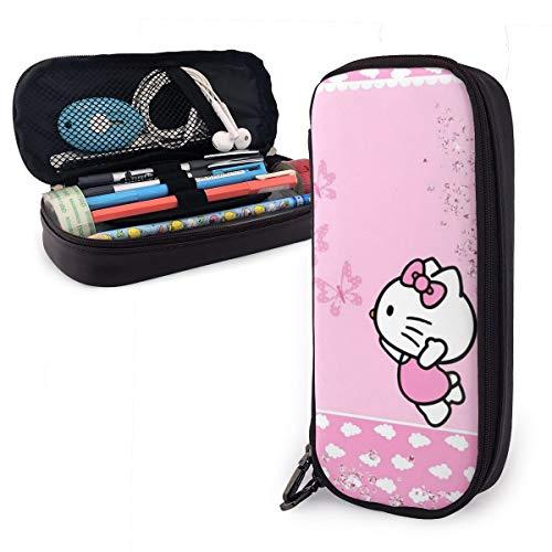 Hello Kitty - Astuccio portamatite con doppia cerniera, in poliuretano, grande capacità