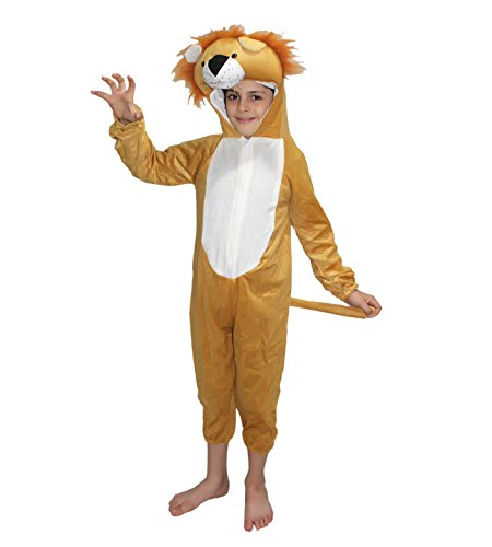 KAKU FANCY DRESSES Kids Lion Wild Animal Costume for Annual Function/Theme Party/Competition/Stage Shows/Birthday Party Dress