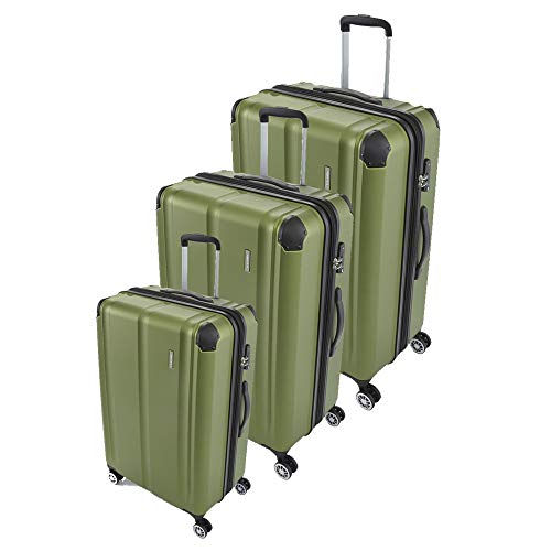 travelite City 4-Rad Trolley Set 3-tlg. grün