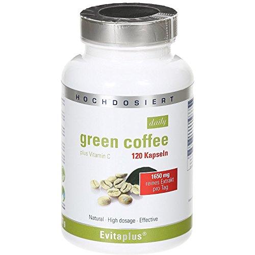 Green Coffee DAILY 1.650 mg - 1 Confezione - 120 capsule vegetali - Caffee verde - Efficacia provata clinicamente - Potente brucia-calorie - Rimodella la propria silhouette