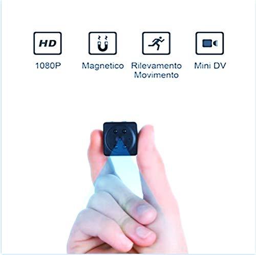 HD 1080P telecamera Spia videocamera nascosta Mini Telecamera Microcamere spia Hidden Spy Cam Telecamera Sorveglianza Videosorveglianza Rilevatore Movimento E Supporto Infrarossi Per Visione Notturna