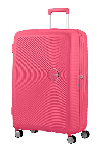 American Tourister Soundbox Spinner Large Expandable Bagaglio A Mano, 77 cm, 110 Liters, Rosa (Hot...