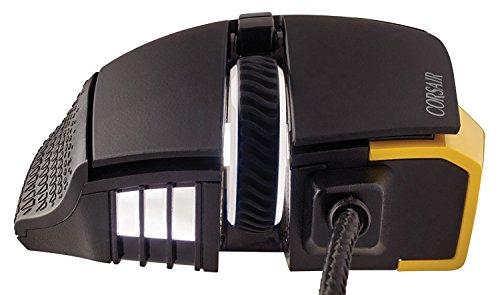 Corsair Gaming CH-9304011 Scimitar Pro Multi-Colour RGB Beleuchtung Performance 16000 DPI Optisch Gaming Maus, Schwarz/Gelb 26