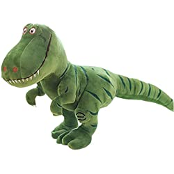 Wellouis Linda muñeca de Peluche de Dinosaurio Relleno, Juguetes de Peluche de tiranosaurio de Dibujos Animados para los Regalos de cumpleaños de los niños de la niña del bebé