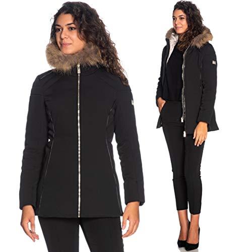 YES-ZEE O051-Q200 Cappotto Donna Nero M
