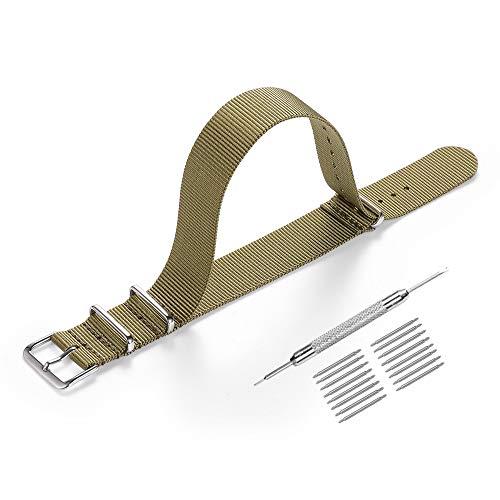 Cinturino Nato 20mm 22mm,High-end di Lusso in Stile NATO Nylon Sostituzione Cinturino