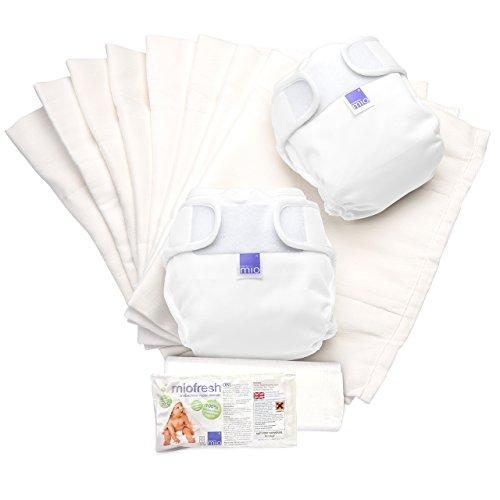 Bambino Mio, miosoft set di pannolini lavabili, bianco, taglia 2 (9 kg+)