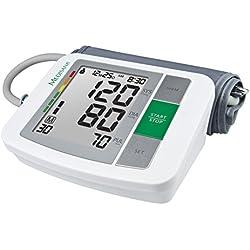 Medisana BU 510 51160 - Monitor de Presión Arterial del Brazo Superior, Visualización de Arritmias, Escala de Colores de Semáforo de la OMS