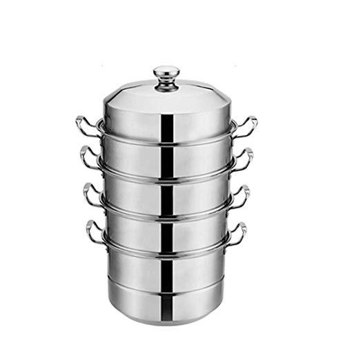 Pentola a vapore ad induzione in acciaio inossidabile ad alta capacità 30CM-40CM con tre, quattro,...