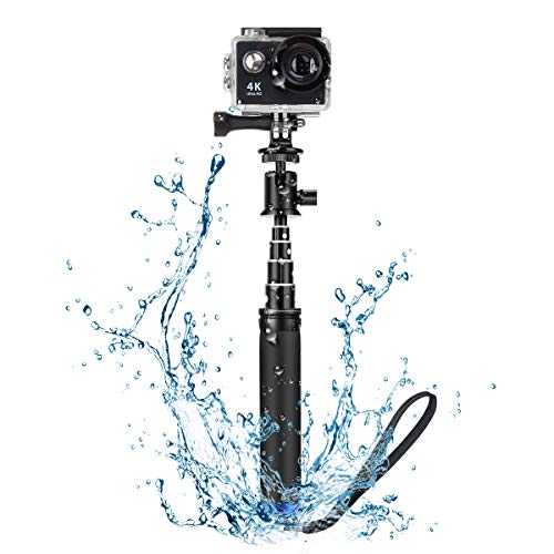 Bastone Selfie Camera BlitzWolf 71cm Selfie Stick Monopiede Impermeabile con Adattatore Action Camera Asta Selfie in Alluminio per Action Camera, 360 Fotocamera Video, DSLR Camera