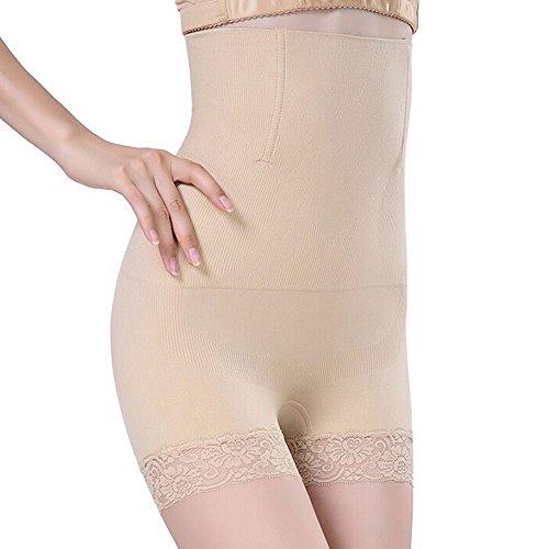 SURE YOU LIKE Damen Figurenformend Miederpants Miederhose Shapewear Bauch-Weg-Effekt Formt Sofort Body Shaper,Beige,Tag XL/XXL=size EU(42-46)