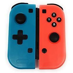 Nintendo Switch Set de dos mandos Joy-Con Izquierdo y derecho (L/R). Color azul y rojo. Controller pair con instrucciones en ESPAÑOL