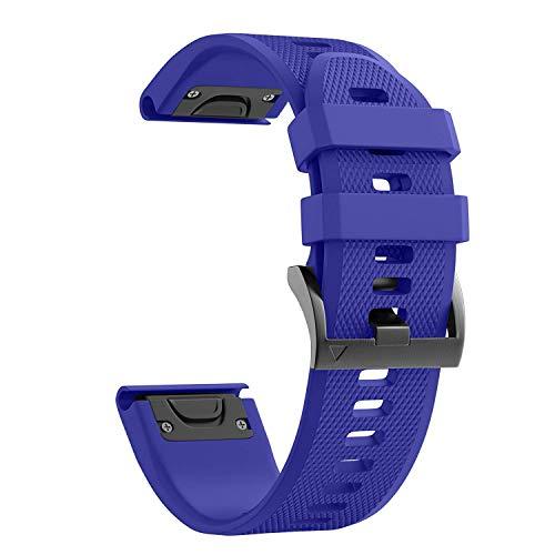 NotoCity Cinturino per Garmin Fenix 3/Fenix 3 HR/Fenix 5X/5X Plus/Fenix 6/Fenix 6 PRO,Cinturino di Ricambio in Silicone,Quick-Fit, Colori Multipli