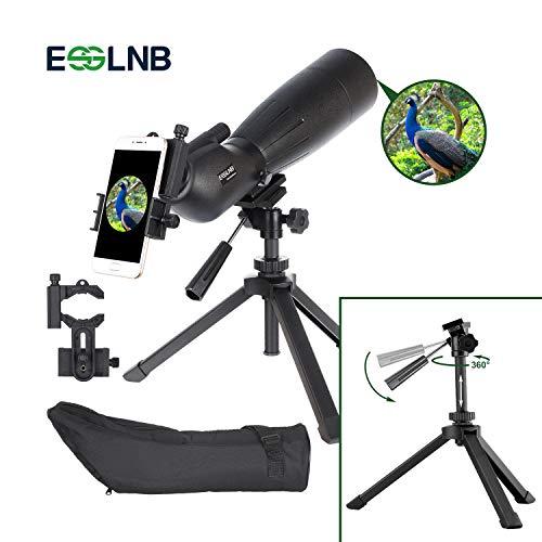ESSLNB 20X-60X80 Cannocchiale con Treppiede Regolabile e Adattatore Smartphone Impermeabile al 100%...