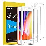 SPARIN [3 Pezzi Vetro Temperato Compatibile con iPhone 8 Plus / 7 Plus, [Strumento per Una Facile Installazione] Pellicola Protettiva iPhone 8 Plus e 7 Plus [Durezza 9H] [Alta Trasparente]