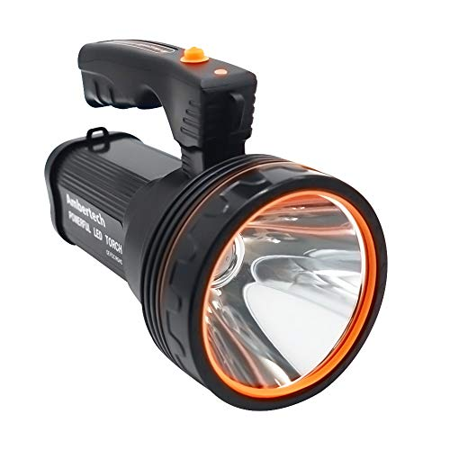 Ambertech Ricaricabile 7000 Lu Super LED Luminoso Searchlight Spotlight Torcia Flashlight Lanterna...