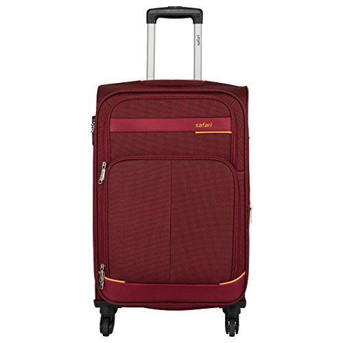 Safari Polyester Red Soft Sided Carry-On (MAASAIMARA 4 Wheel Trolley 55)