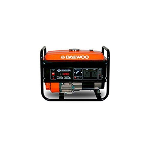 Daewoo GD6000 - Generador eléctrico a gasolina de 389 cc, 5500 W, 240 V