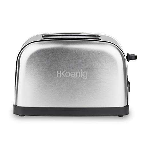 H.Koenig TOS7 tostapane, 850 W, Acciaio Inossidabile, 2 Scomparti, Argento (Silber)