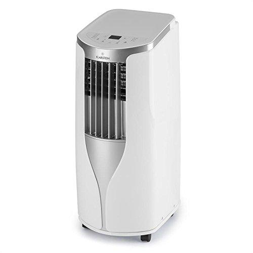 Klarstein New Breeze 7 • Climatisation • Climatiseur • Ventilateur • 7000 BTU/h • 2,6 KW • De 16 à 30 ° C • Classe A • Tuyau d'évacuation Inclus • Télécommande • Écran LCD • Roues incluses • Blanche