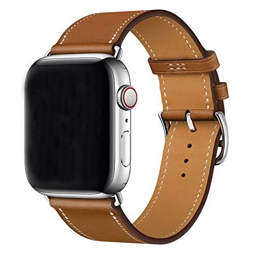 XCool Cinturino Apple Watch 38mm 40mm, Pelle Marrone per Donna Uomo per iwatch Serie 5 Serie 4 Serie 3 Serie 2 Serie 1