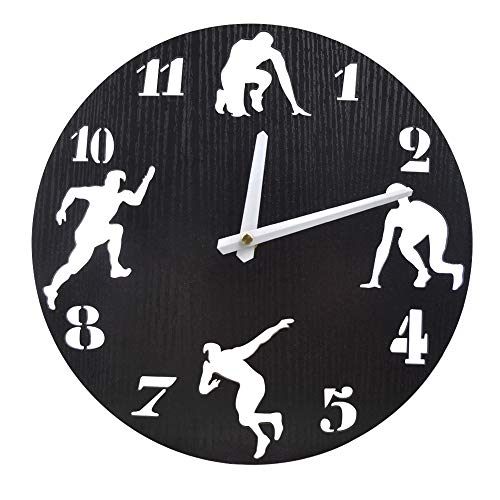 Umi. Essentials Orologio da parete, silenzioso, 30 cm, per cucina, salotto, ufficio, casa, colore nero