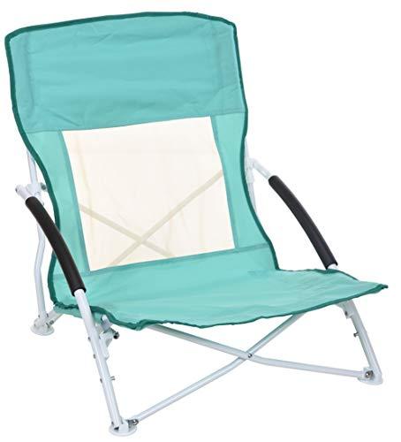 Strandstuhl zum zusammenklappen, Klappstuhl für den Strand oder Baggersee, Farbe: Türkis
